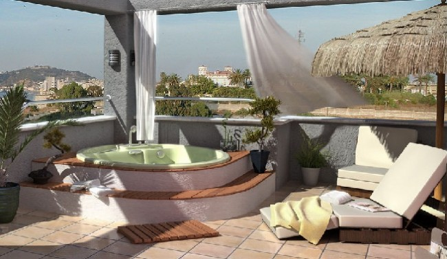 C mo y d nde instalar en casa un jacuzzi para disfrutar - Jacuzzi en terraza ...