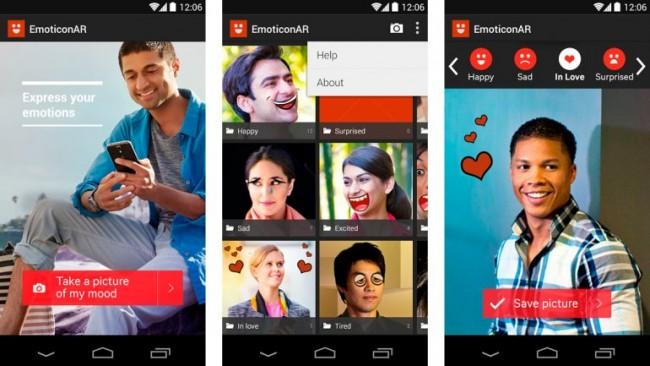 EmoticonAR para Android reconoce emociones del usuario