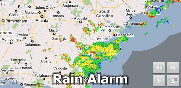 Cómo instalar una alarma de lluvia en un dispositivo Android