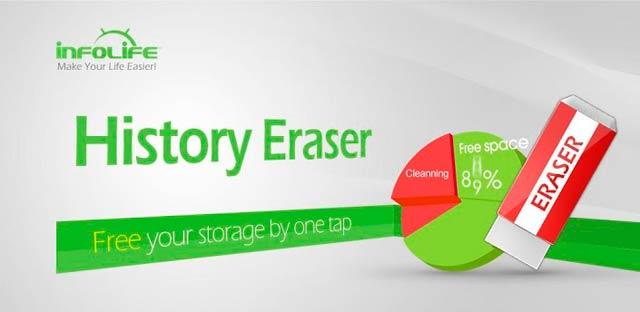 History Eraser, para generar mayor espacio en smartphone Android
