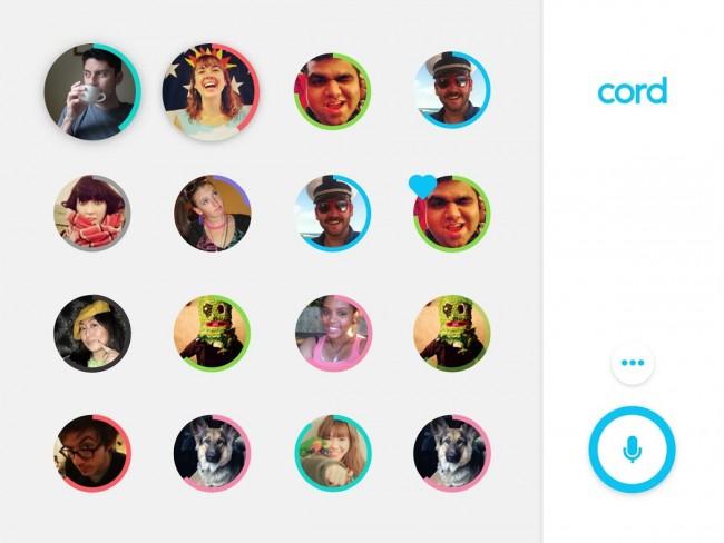App de mensajería instantánea por voz Cord para Android