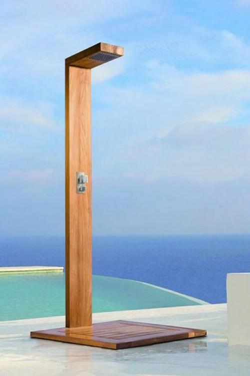 C mo instalar una ducha en la piscina exterior - Duchas pequenas ...