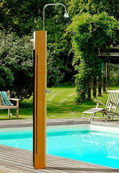 C mo instalar una ducha en la piscina exterior - Ducha para jardin ...