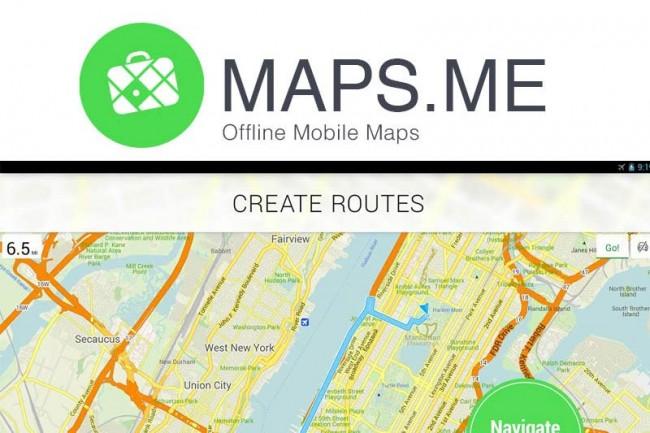 Maps.me, mapas gratuitos y sin conexión para iOS, Android y BlackBerry