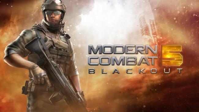 Juego de acción y disparos Modern Combat 5 para BlackBerry