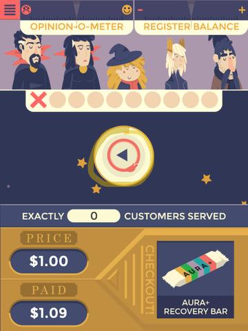 Juego arcade de matemáticas Chance Wizard para iPhone
