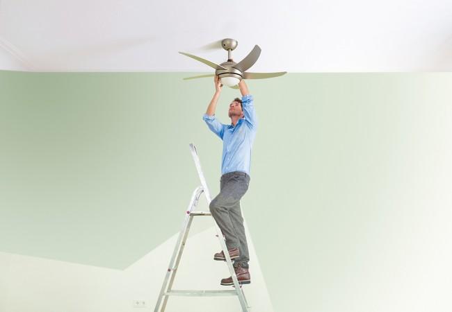 Cómo instalar un ventilador de techo en pocos pasos
