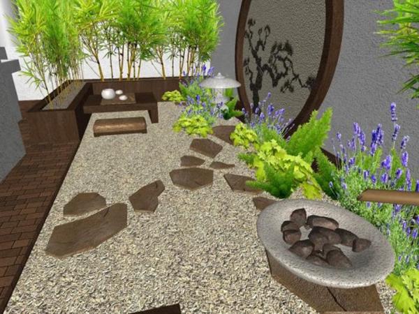 C mo instalar jardines zen relajantes en patios interiores - Salon de jardin zen ...