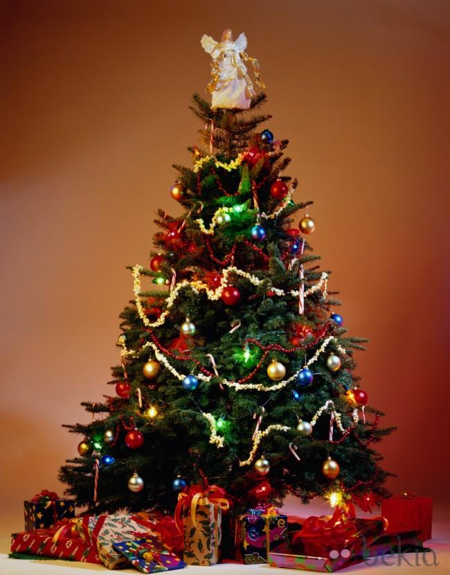 ¿Cómo colocar las luces de navidad en un árbol?