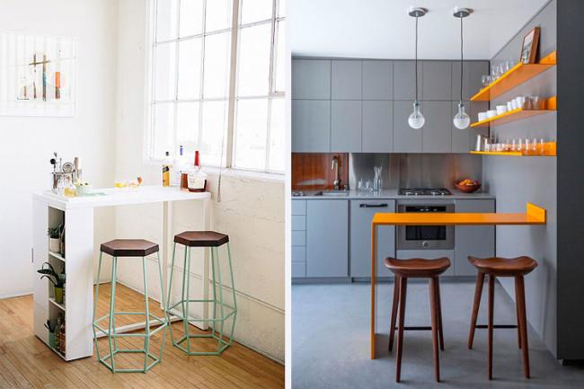 Instalar una barra desayunadora en la cocina c mo hacerlo - Cocinas pequenas con barra americana ...