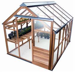 Montar un peque o invernadero en el jardin - Como hacer un invernadero pequeno ...