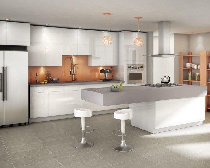 Como decorar cocinas modernas 166 im genes for Cocinas amplias con isla