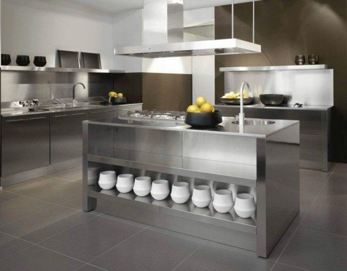 Como decorar cocinas modernas 166 im genes - Cocinas con marmol ...