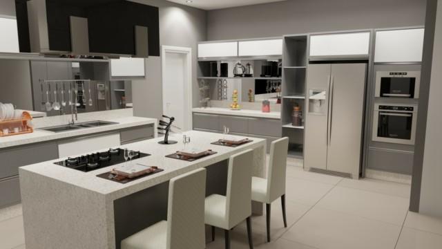 Como decorar cocinas modernas 166 im genes for Isla de cocina con mesa