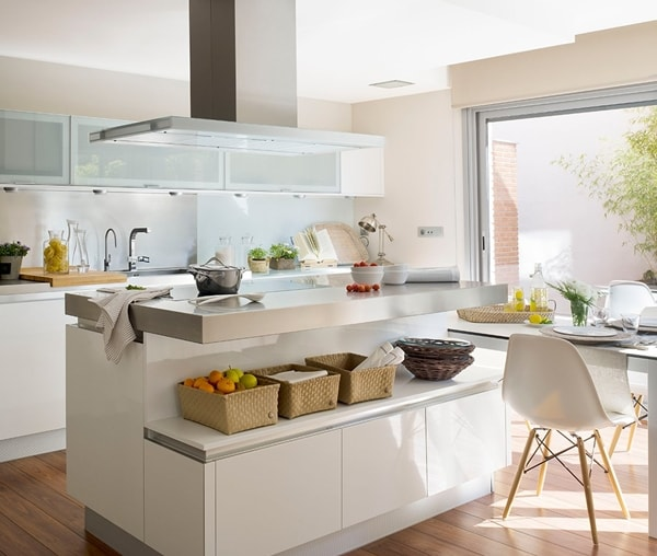 Como decorar cocinas modernas 166 im genes for Cocinas con islas en el medio