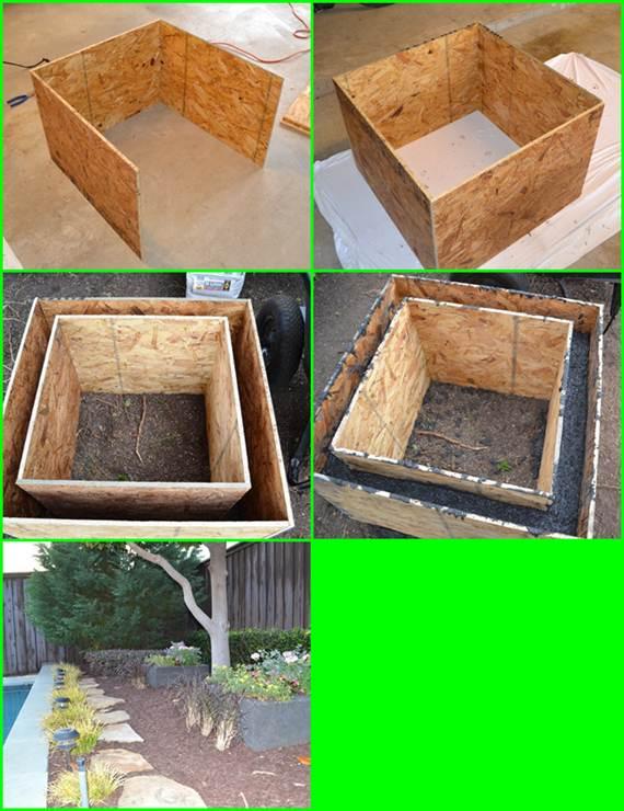 Como hacer macetas de cemento concreto u hormig n for How to make cement at home