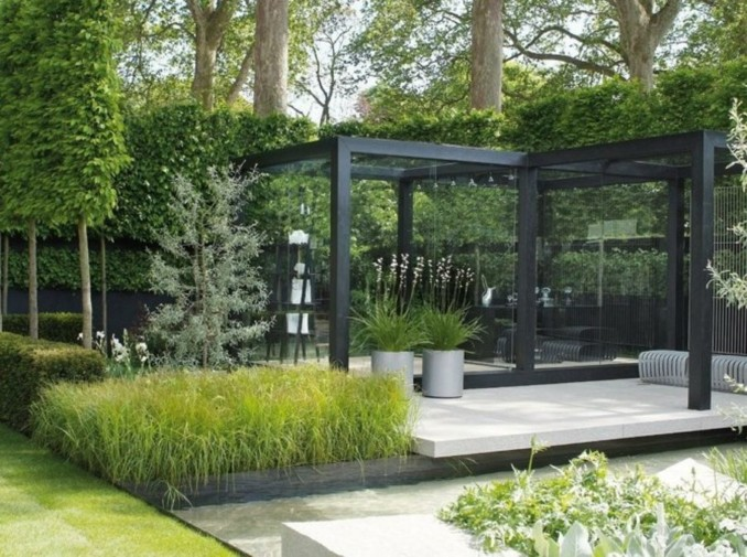 Dise o y decoraci n de jardines peque os y modernos 90 for Jardines modernos fotos