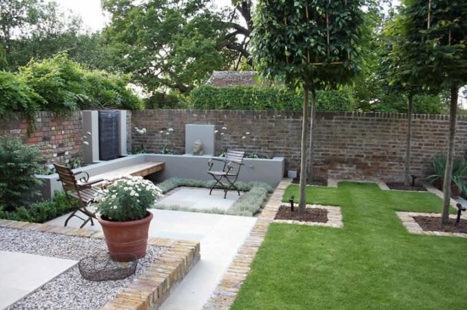 Dise o y decoraci n de jardines peque os y modernos 90 for Fuentes de jardin modernas