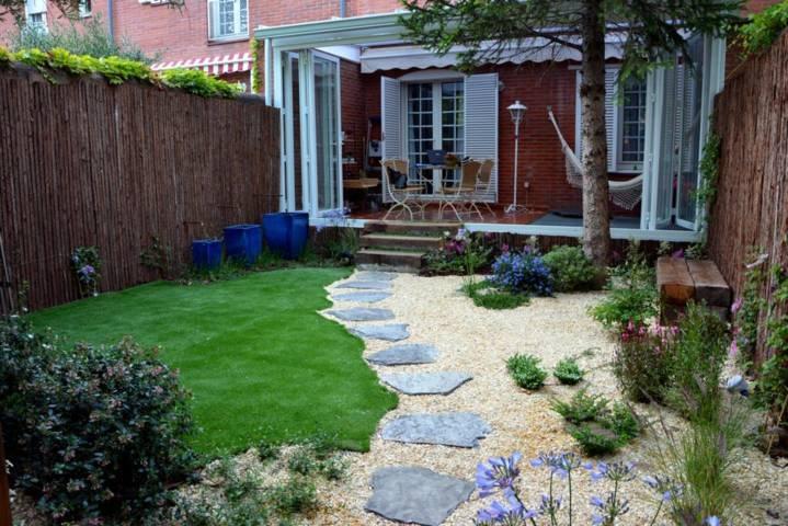 Dise o y decoraci n de jardines peque os y modernos 90 - Jardines pequenos imagenes ...