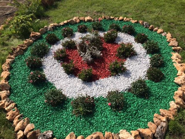 C mo hacer jardines peque os con piedras de colores o for Jardines pequenos esquineros