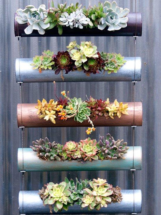 C mo hacer jardines peque os verticales y modernos - Material para jardin vertical ...