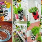Cómo hacer macetas recicladas, decoradas y colgantes super bonitas