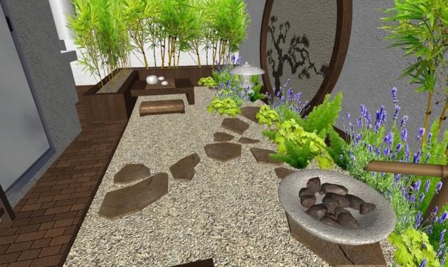 C mo instalar jardines zen relajantes en patios interiores o terrazas - Fuentes para terraza ...