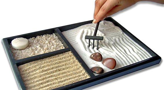 C mo instalar un jard n tipo zen miniatura - Arena para jardin zen ...