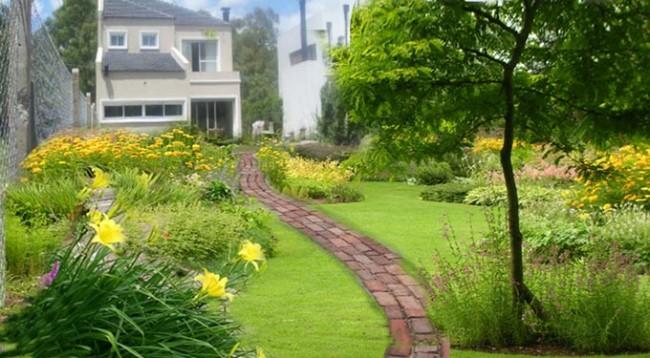 C mo instalar camino de adoquines en nuestro patio - Jardines con adoquin ...