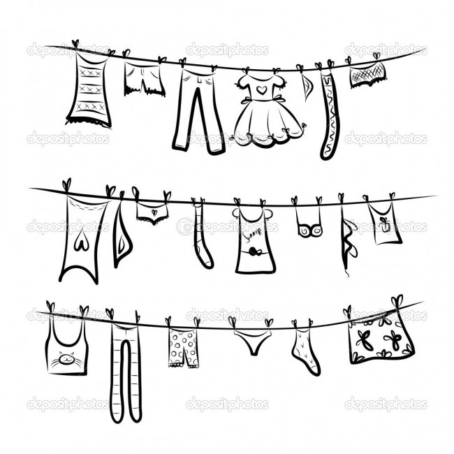 tendederodepositphotos_25197781-Clothes-on-the-clothesline.-Sketch-for-your-design