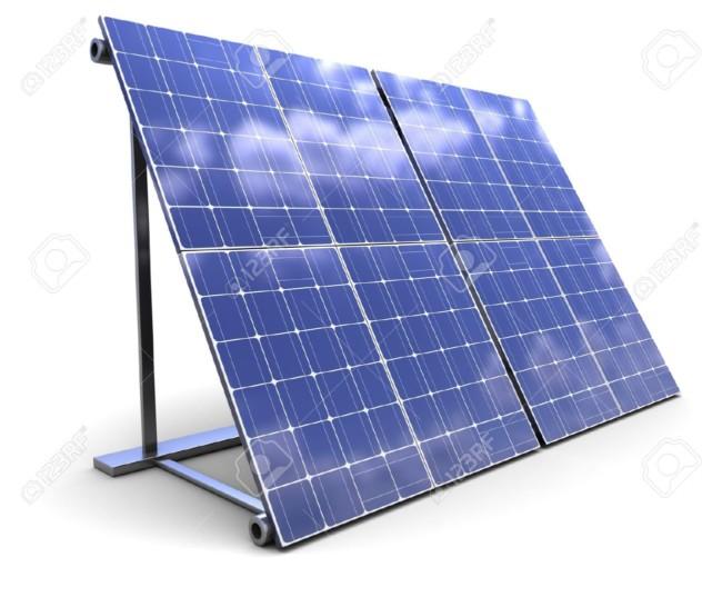 7292381-Ilustraci-n-3D-del-panel-solar-sobre-fondo-blanco--Foto-de-archivo