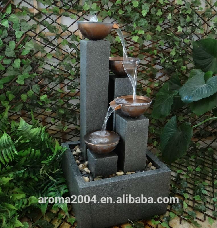 Instalar una fuente de agua decorativa en el jardin modelos - Como hacer una fuente de jardin ...