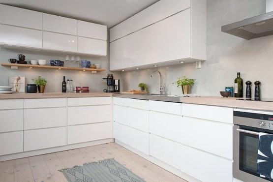 Fotos de cocinas modernas blancas cocina blanca brillo for Cocinas modernas blancas