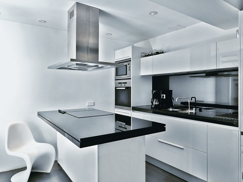 Cocinas Modernas Blancas Cocinas Modernas Blancas Y Grises Con - Cocina-blanca-moderna