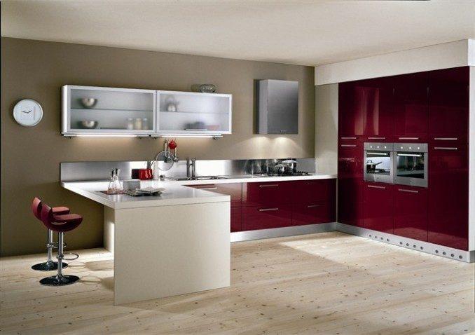 Como decorar cocinas modernas 166 im genes for Mesa cocina con ruedas