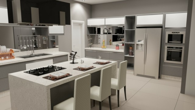 Como decorar cocinas modernas 166 im genes - Cocinas en isla modernas ...
