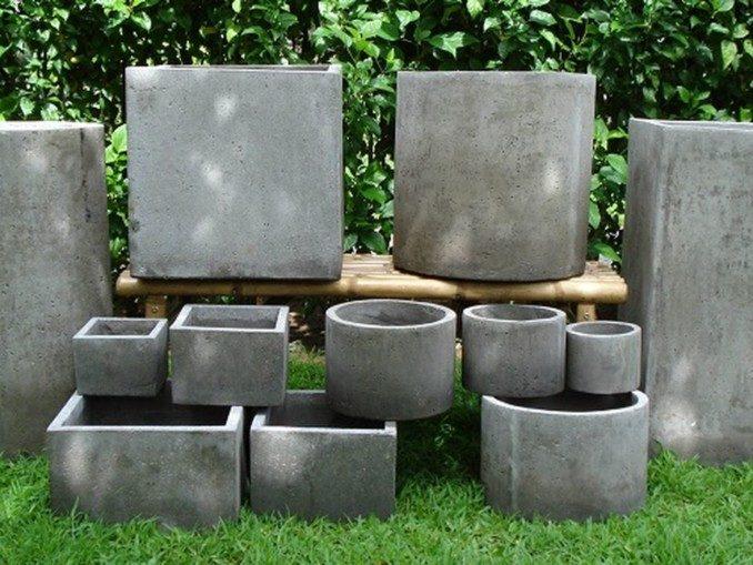 Como hacer macetas de cemento concreto u hormig n for Bases para jardineras