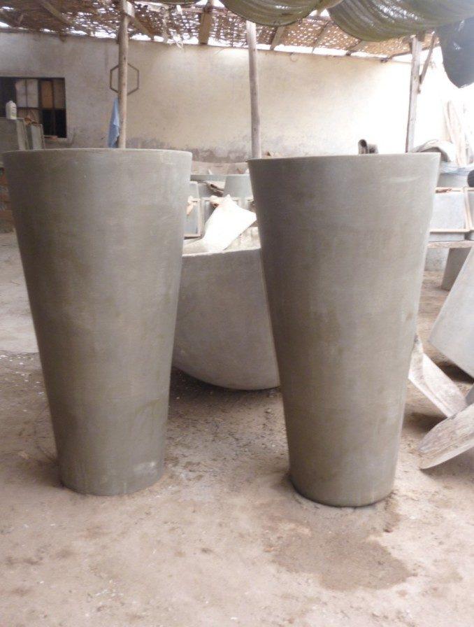 Como hacer macetas de cemento concreto u hormig n - Moldes de cemento ...