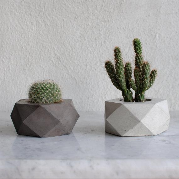Como hacer macetas de cemento concreto u hormig n - Jardineras de cemento ...