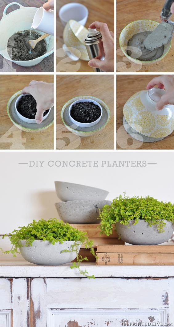 Como hacer macetas de cemento concreto u hormig n - Como colocar adoquines de hormigon ...