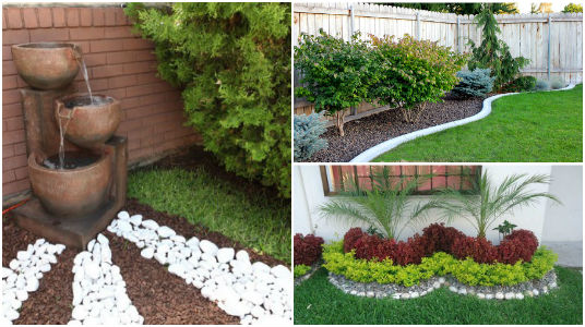 Dise o y decoraci n de jardines peque os y modernos 90 im genes - Piedras para jardin baratas ...