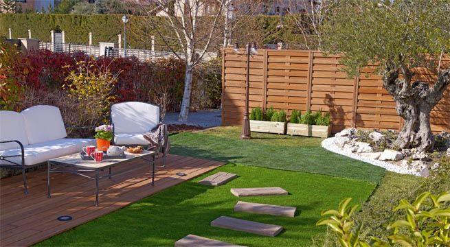 Dise o y decoraci n de jardines peque os y modernos 90 im genes - Iluminacion jardines pequenos ...