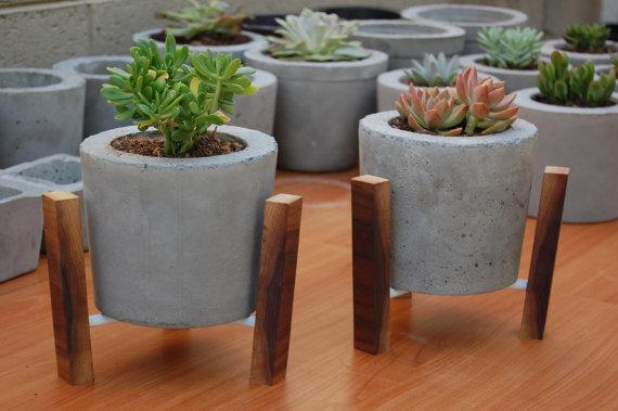 Como hacer macetas de cemento concreto u hormig n - Maceteros rectangulares grandes ...