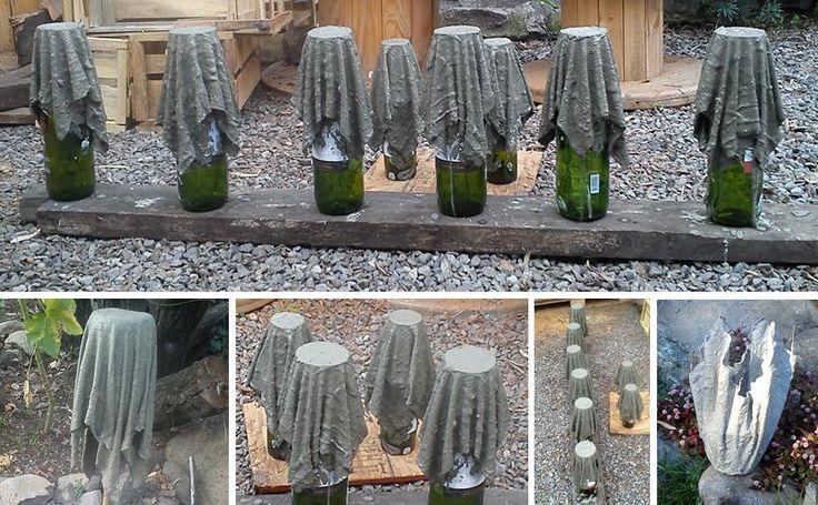 Como hacer macetas de cemento concreto u hormig n - Baldosas de hormigon para jardin ...