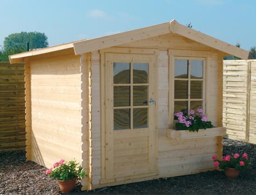 C mo instalar una caba a de madera en el jard n for Cabanas para jardin