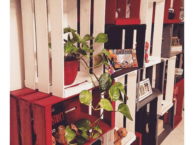 C mo hacer objetos de dise o con cajones de madera reciclados - Estantes para macetas ...
