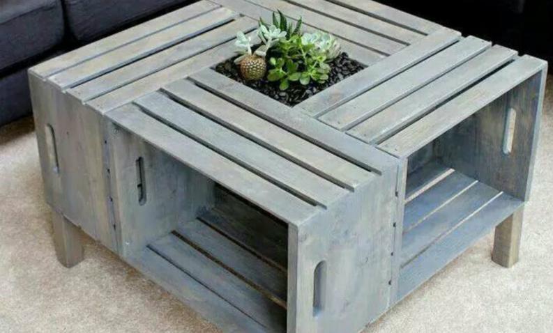 C mo hacer objetos de dise o con cajones de madera reciclados for Diseno de muebles con cajones de verduras