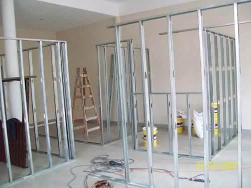 C mo instalar una pared divisoria en durlock - Como colocar pladur en techo ...