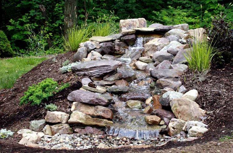 Instalar jardines con piedras y cascadas muy naturales for Jardines pequenos horizontales