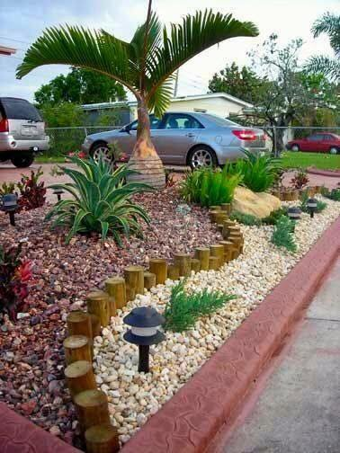 Como Hacer Jardines Pequenos Con Piedras De Colores O Rockolors - Jardin-con-piedras